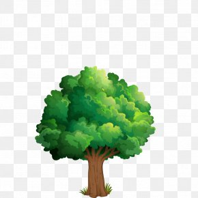 Hand-painted Tree - Nature Drawing Theatrical Scenery Clip Art PNG