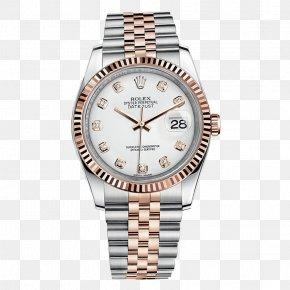 Silver Rolex Watch Men's Watches - Rolex Datejust Rolex Submariner Rolex GMT Master II Rolex Daytona PNG