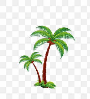 Cartoon Coconut Trees - Sahih Muslim Willemstad Quran Hadith Urdu PNG
