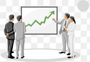 Vector Business Meeting A Few People - Businessperson Advertising Cartoon PNG