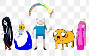 Adventure Time - Finn The Human Jake The Dog Marceline The Vampire Queen Ice King Princess Bubblegum PNG