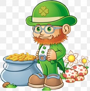 Leprechaun With Pot Of Gold PNG Clipart - Leprechaun Saint Patrick's Day Clip Art PNG