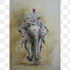 Painting - Amer Fort Watercolor Painting Jaipur Indian Elephant PNG