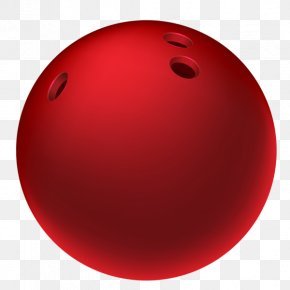 Red Bowling - Bowling Ball Red Sphere PNG