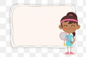 Badminton Tabloid Text Box - Badminton Cartoon Clip Art PNG