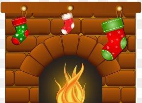 Christmas - Christmas Desktop Wallpaper Fireplace Mantel Clip Art PNG