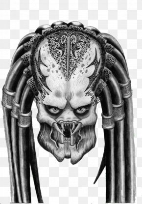 Predator Head - Predator Alien Drawing DeviantArt PNG