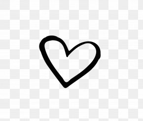 Hand Drawn Heart-shaped Vector - Brand Black And White Heart PNG