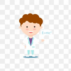 Male Scientist And Chemical Equation - Scientist Equation Euclidean Vector PNG