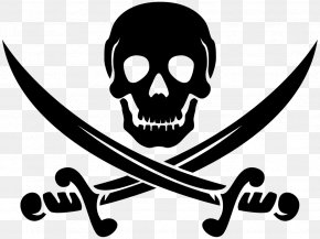 Skull Crossbones - Piracy Jolly Roger Clip Art PNG