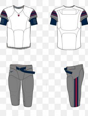 Blank Football Uniform On Paper - Jersey Florida Blazers Uniform Nike American Football PNG