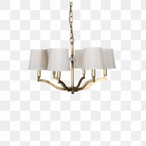 Six All-copper Brass Chandelier - Copper Brass Chandelier Designer PNG