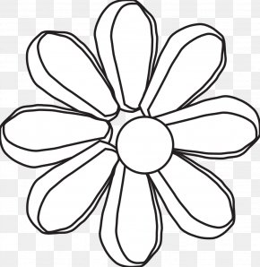 Hippy Bus Black And White - Clip Art Black And White Petal Flower Monochrome Photography PNG