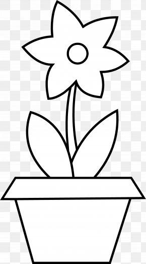 Flower Pot Outline - Flowerpot Clip Art PNG