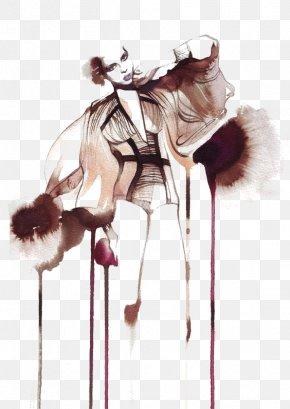 Graffiti Fashion Beauty - Fashion Illustration Watercolor Painting Illustrator Illustration PNG