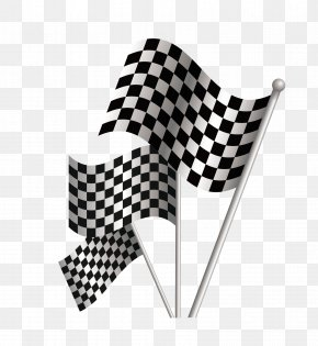 Vector Black And White Racing Flags - Formula One Car Racing Flags Auto Racing PNG