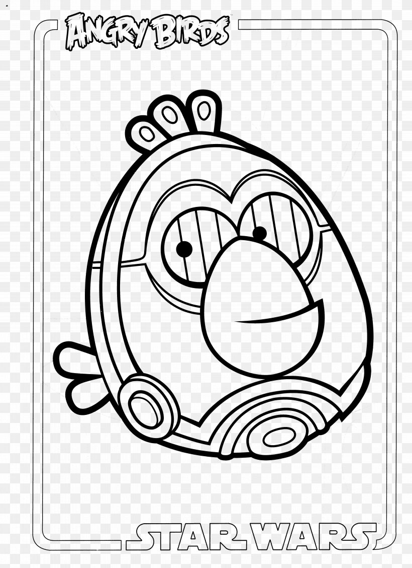 Angry Birds Star Wars Coloring Book White Clip Art Png 5096x7016px Watercolor Cartoon Flower Frame Heart
