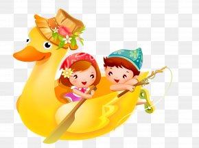 Cartoon Duck Boat - Desktop Wallpaper Download Cartoon Display Resolution High-definition Video PNG