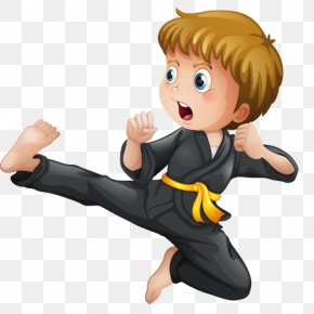 Karate Image - Karate Martial Arts Kick Illustration PNG