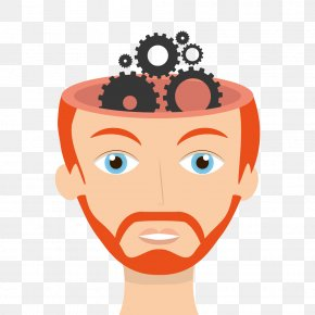 Cartoon Brain Gears Image - Brain Cerebrum Cartoon PNG