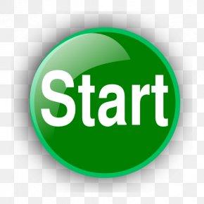 Green Start Button Clip Art - Button Clip Art PNG