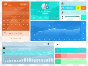 Color UI Interface Controls PNG