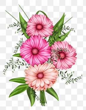 Watercolor Cute - Pink Flowers Clip Art PNG