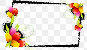 Flower - Clip Art Borders And Frames Decorative Flowers Floral Design PNG