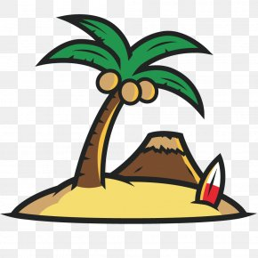 Vector Illustration Painting Coconut Tree - Coconut Tree Arecaceae PNG