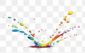 Color Splash Water Drops - Drop Ink Color Paint PNG