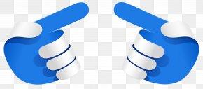 Blue Hands Arrows Transparent Clip Art Image - Clip Art PNG