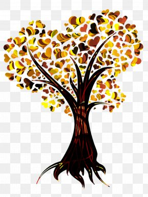 Heart Tree - Tree Heart Autumn Leaf Color Clip Art PNG