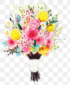 Floral Bouquet - Floral Design Flower Bouquet Nosegay Illustration PNG
