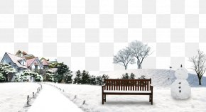 Housing Snow Snowman Background Material - Snow Winter PNG