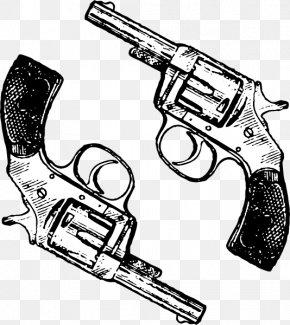 Western Pistol - Revolver Firearm Handgun Clip Art PNG