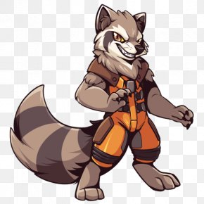 Rocket Raccoon - Rocket Raccoon Cartoon Furry Fandom Comics PNG