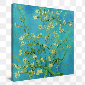 Van Gogh - Almond Blossoms Van Gogh Museum Blossoming Almond Branch In A Glass Art Painting PNG