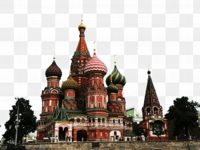 Russia Red Square Attractions - Saint Basil's Cathedral Tsar Bell Red Square Spasskaya Tower Moscow Kremlin PNG