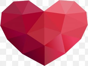 Low Poly - Low Poly Heart Clip Art PNG