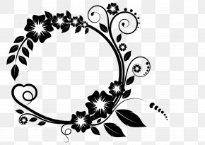 White Flower Frame Free Download - Picture Frame Flower Clip Art PNG