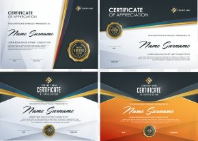 Vector Beautifully Certificate Template - Template Graphic Design PNG