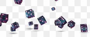 Black Dice Floating Material - Yahtzee Dice PNG