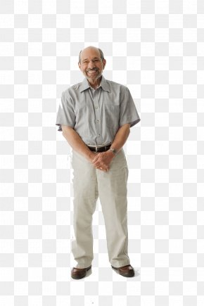 Cute Old Man Standing On The Whole Body PNG