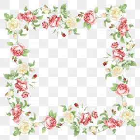 Handpainted Flowers - Flower Picture Frames Clip Art PNG