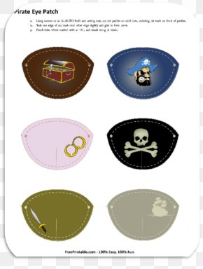 Eye Patch - Piracy Eyepatch Jolly Roger Pirate Party PNG