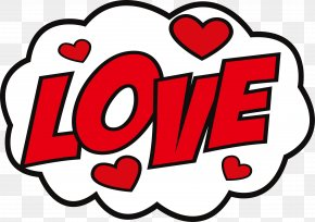 Big Red Love Sticker - Sticker Love Hike Messenger Decal PNG