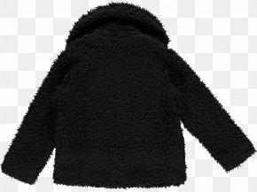 Shearling Coat - Cardigan Hoodie Neck Wool Black M PNG