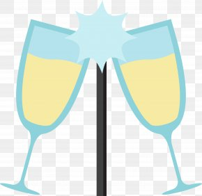 Vector Blue Wine Glass - Wine Glass Euclidean Vector Blue PNG
