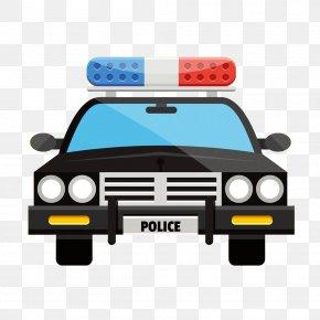 Flat Cartoon Police Car - Police Car Clip Art PNG