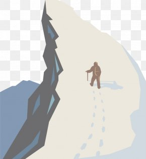 Vector Flat Travel Themes - Mountaineering Poster Illustration PNG